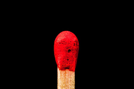 red and brown matchstick