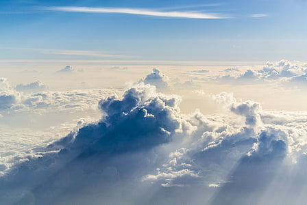 aerial photo of white clouds