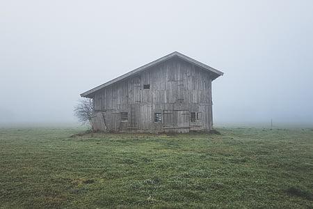 grey wooden barn