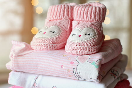 toddler's pink knitted boots