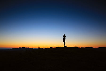 silhouette of person photo