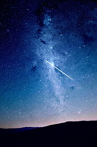 photo of shooting star