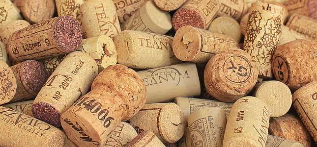 brown cork lot