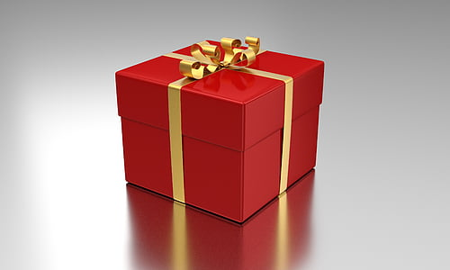 red and yellow gift box