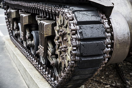 tank with continuous track monument