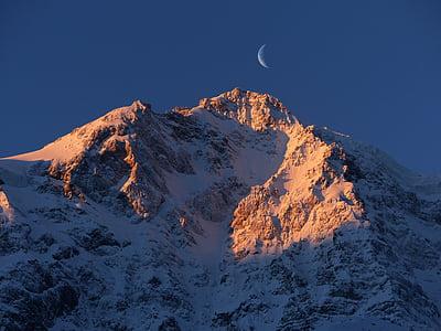 landscape photo of black and white mountain range