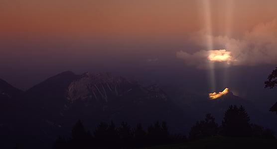 alps mountain during sunrise