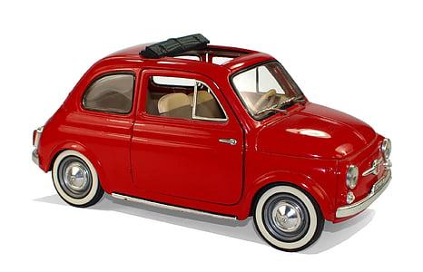 red 3-door hatchback