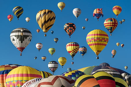 assorted-color hot air balloon photography
