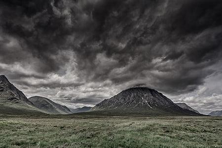 landscape photography of mountain near green grass field