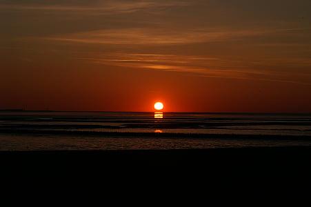 landscape photo of ocean photo taken during sunset