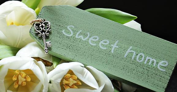 Sweet Home print wooden decor