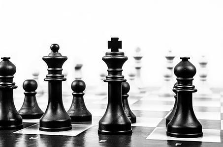 black chess piece set