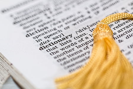 Dictionary book page photo