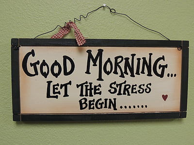 Good Morning Let The Stress Begin decor