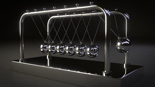 stainless steel Newton's cradle
