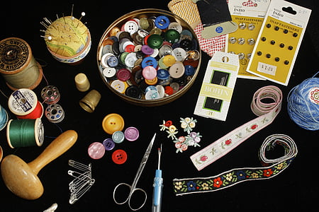 assorted-color of sewing material lot