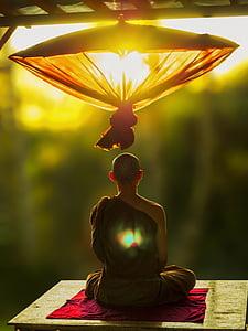 man meditating