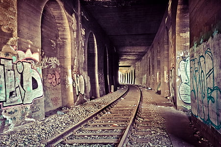 brown train railway
