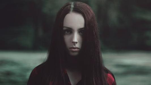 woman wearing red shirt movie scene