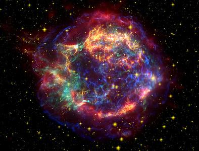 photo of red and blue nebula