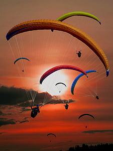 assorted-color parachutes