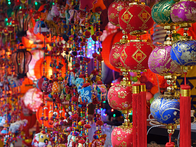 assorted chinese hanging decors