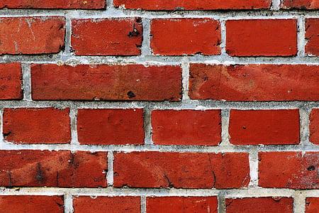red and gray wall bricks