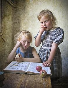 photo of girl eating apple