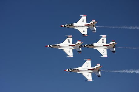 four white sky plane