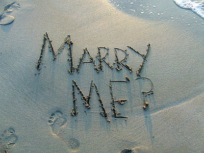 Marry Me? digital wallpaper
