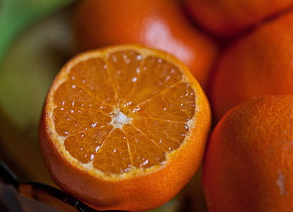 shallow focus of orange fruit