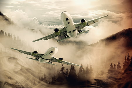 two planes on air wallpaper