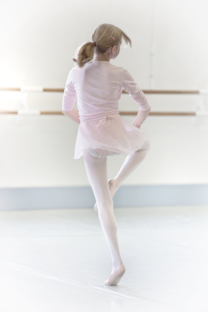 girl practicing ballerina activities