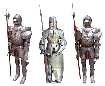 three full body armours