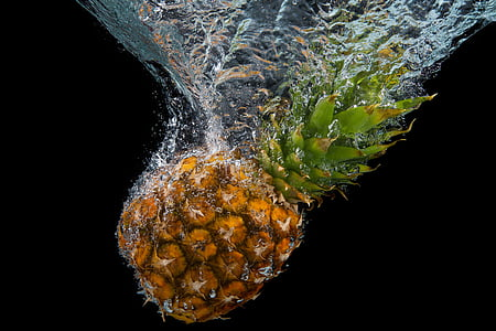 Pineapple under water