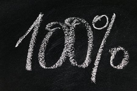 100% chalk on chalk board