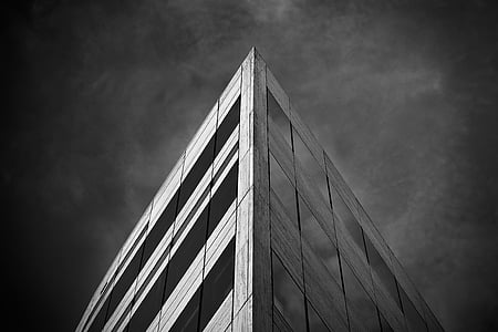 grayscale photography of concrete structure