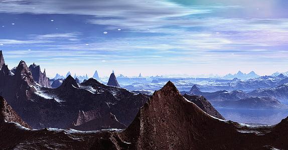 brown mountain peak