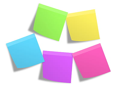 five assorted-color square tiles graphics