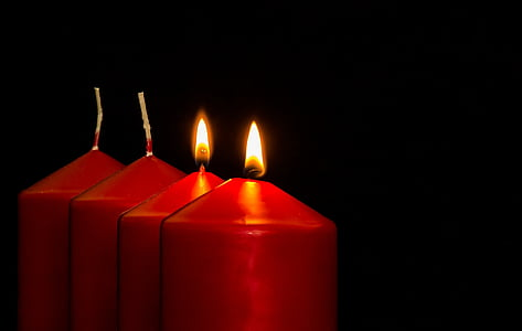 four red candles