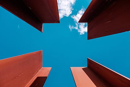 red steel frames