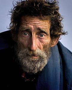 gray bearded man