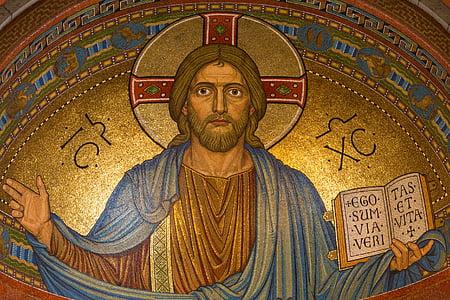 Jesus Christ holding book artwork