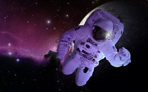 Astronaut on galaxy