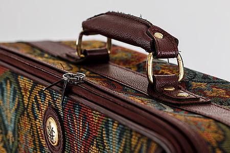 closed luggage bag