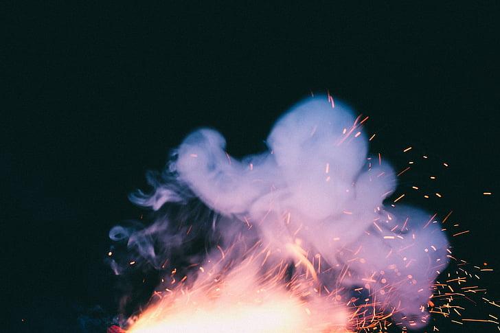 flame with smoke