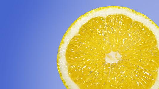 slice lemon fruit