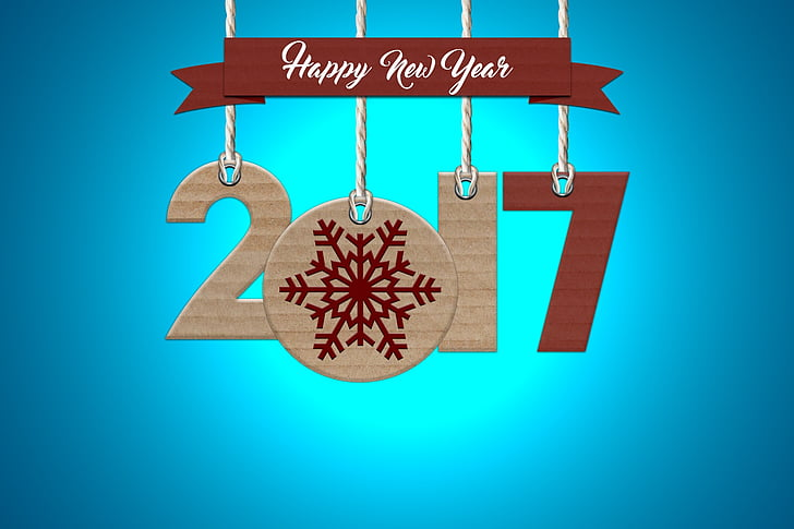 2017 Happy New Year decor