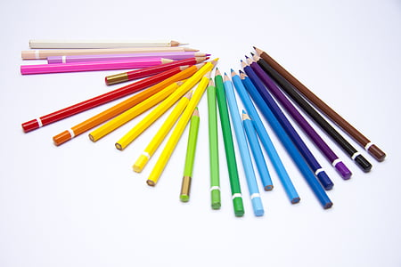 assorted-color color pencil lot